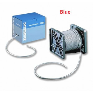 CAT5E Cable with Solid Conductors, Blue - Reel-In-Box