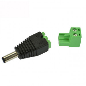 Green Male DC Connector Plug