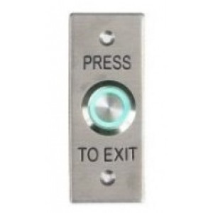 Press To Exit Stainless Steel Architrave Plate With Green Light